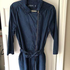 Gap long sleeved denim dress